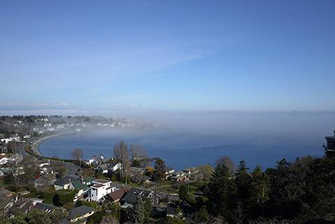 霧が押し寄せる