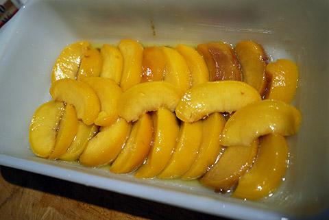 桃のアプサイドダウンケーキ