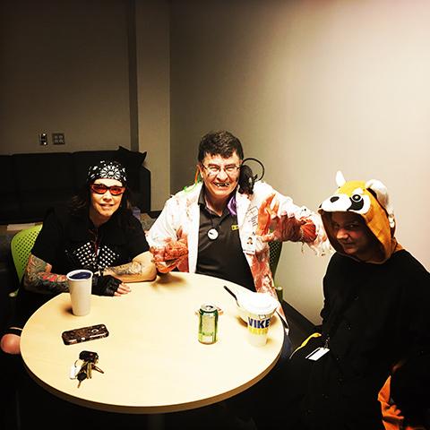 バイカーSさん、Dr.Bとレッサーパンダ
