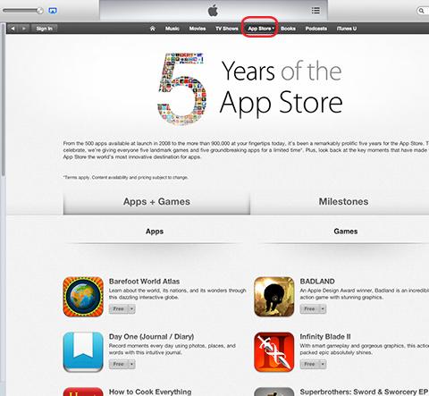 アップルアプリストア5周年