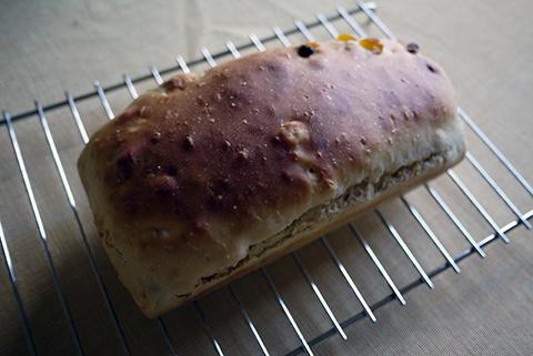 レーズンとアプリコットのパン