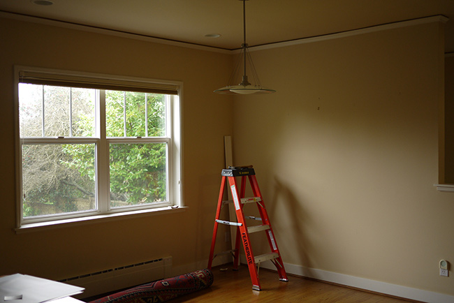 family room paint prep