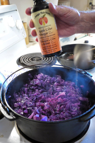 赤キャベツの煮物